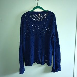 Crochet Free People Sweater